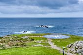 stock photo of hercules  - Compass rose representing the different Celtic peoples located near the Tower of Hercules in A Coruna Galicia Spain - JPG