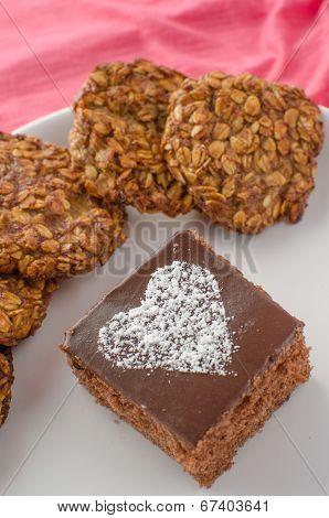 Chocolate Cake And Home Made Cookies