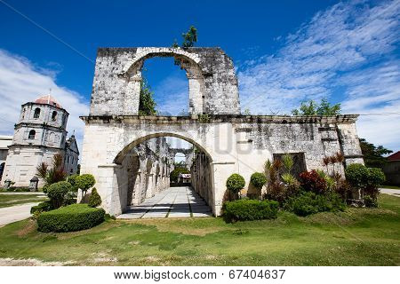 Old Baroque Church In The Oslob, Philippines.