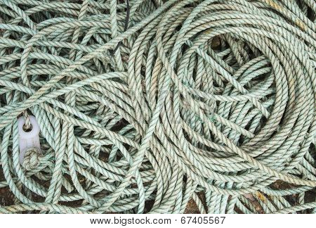 Coiled Rope Background Wallpaper