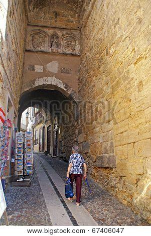 Narrow Street, Coimbra, Portugal