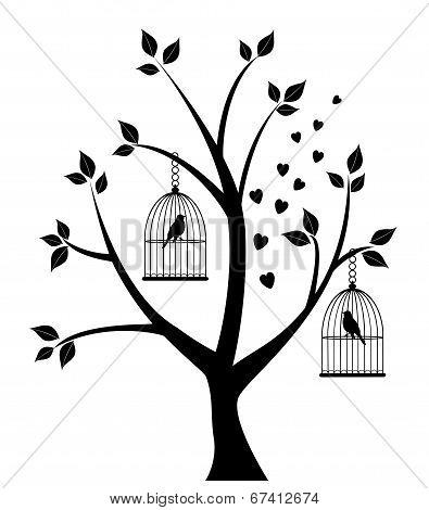 Tree With Bird