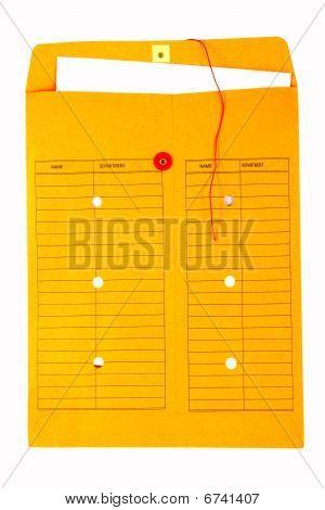 Yellow interoffice envelope