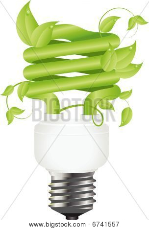 Floral bulb with leafs