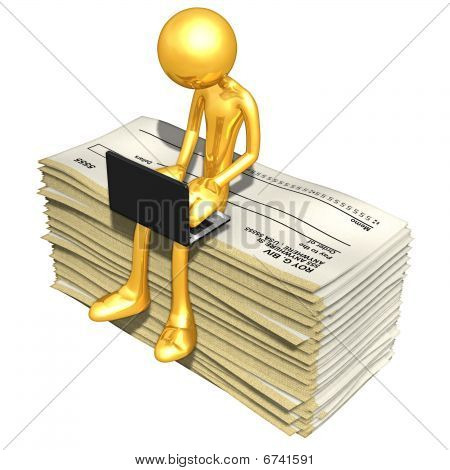 Gold Guy Online With Blank Checks