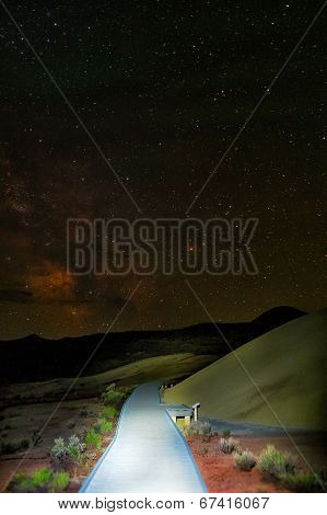 Light Painting In The Painted Hills