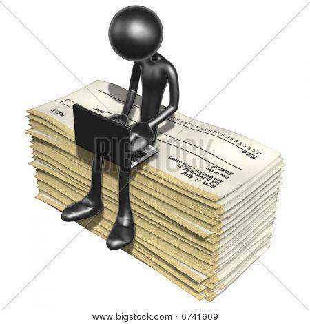 On-line com cheques em branco