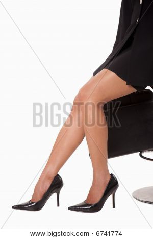 Legs Of Attractive Businesswoman