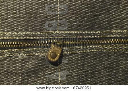 Denim Texture With Zipper