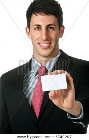 Businessman With Name Card