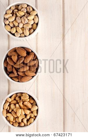 Nuts Fruit In Bowls