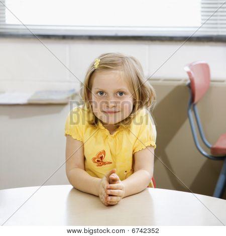 Girl In Classroom.