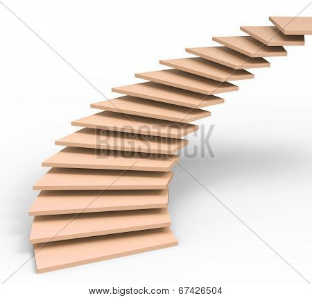 Vision Future Represents Stairs Objectives And Ascending