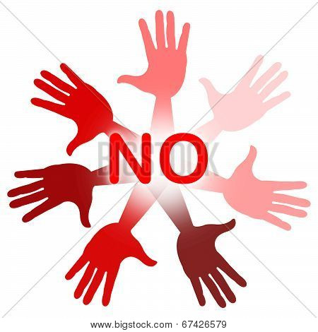 No Hands Indicates Deny Decline And Stop