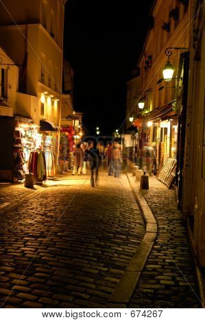 Montmartre By Night, Paris, Portrait