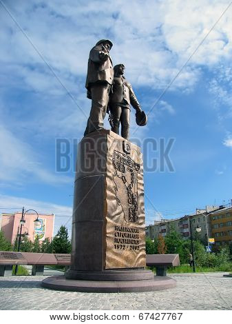 Nadym, Russia - July 5, 2005: The Monument In The Park, In The City Centre.