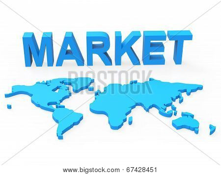 Trade Market Means Planet Global And Globalisation