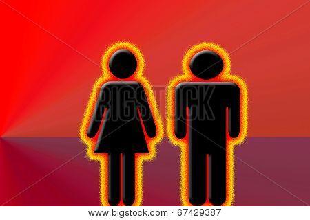 Burning couple
