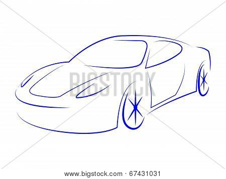 Illustration Modern Represents Sport Car And Automotive