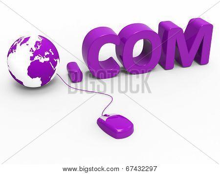 Dot Com Shows World Wide Web And .com