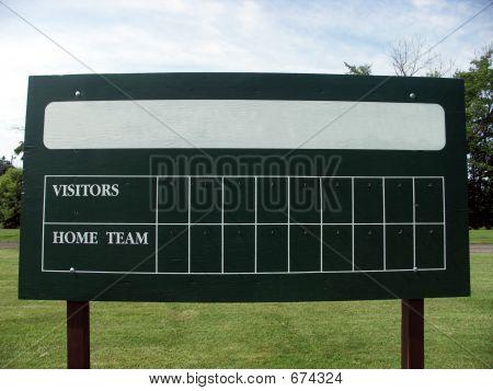 Blank Scoreboard