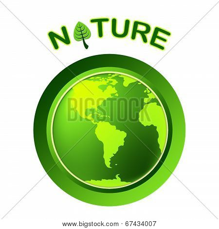 Globe Natural Shows Globalize Earth And Worldwide