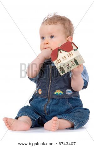 Baby With House Model
