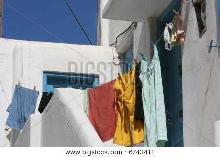 Hanging Clothes In Line