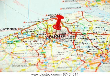 Brugge , Belgium Map Pin