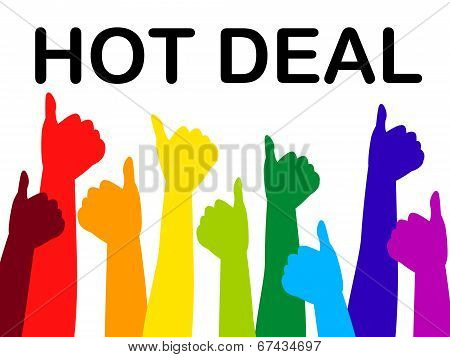 Thumbs Up Means Hot Deals And Approved
