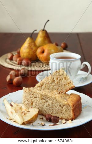 Pear And Hazelnut Cake