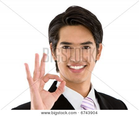 Business Man Doing An Ok Sign