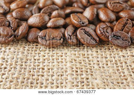 Macro Coffee Beans Juta