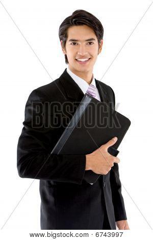 Business Man With A Portfolio