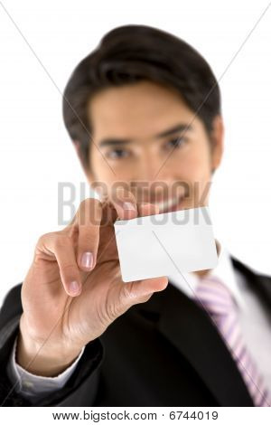 Man With A Business Card