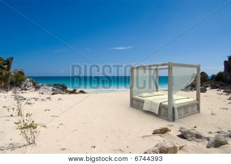 Canopy Bed At The Beach