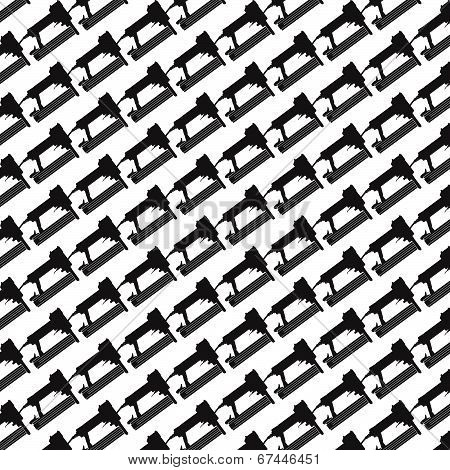 Seamless Pattern Background Of Air Nailer