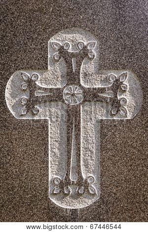 Etched cross design