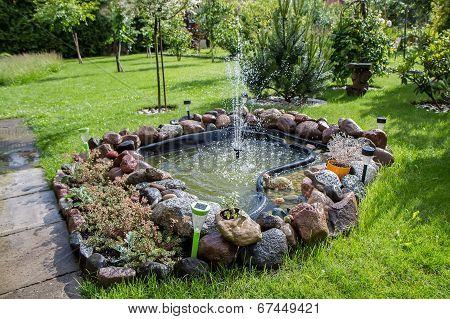 Fountain In Field