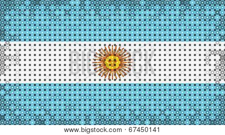 Flag Of Argentina On Led Display