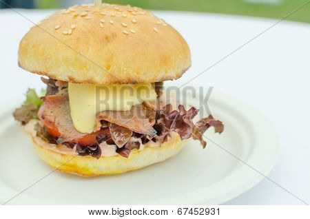 Beef Burger With Herb Butter