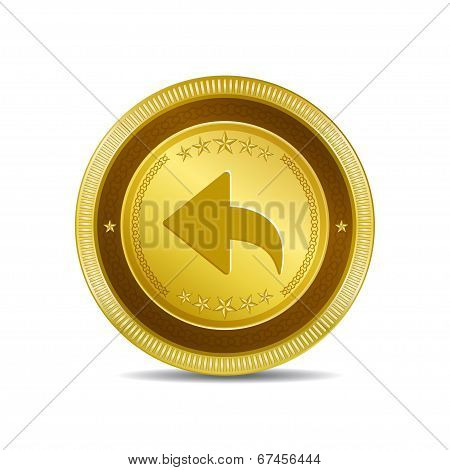 Reset Replay Circular Vector Gold Web Icon Button