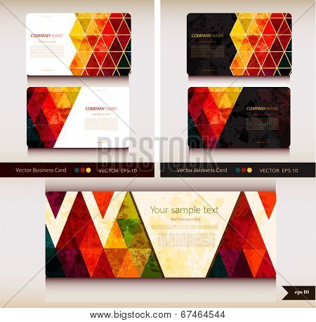 Corporate Identity. Vector templates. Geometric pattern.