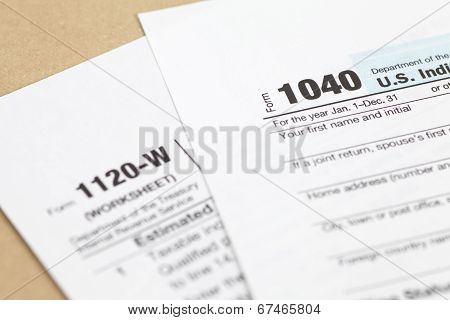 US income tax form