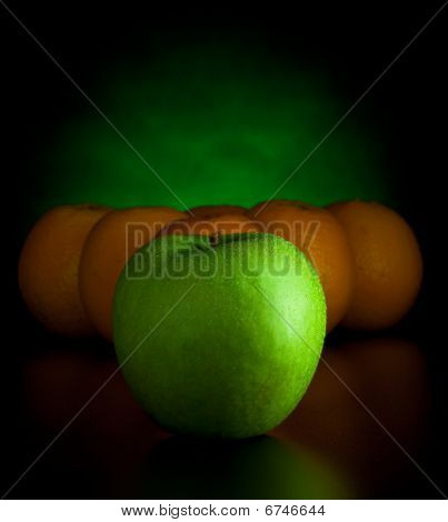 Oranges And Apple Like Billiard Balls