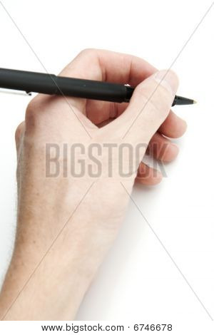 Hand Holding Stift