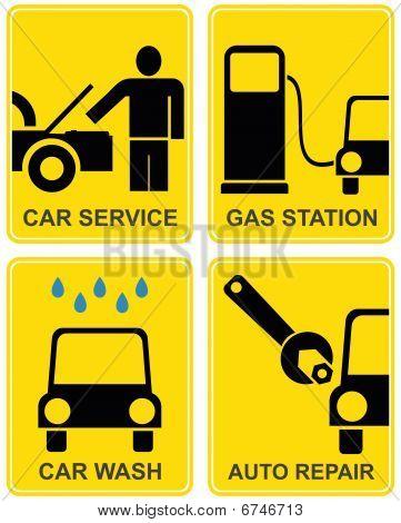 Auto-Service, Tankstelle, Auto Reparatur