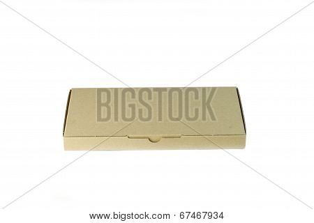 Cardboard Box With White Background