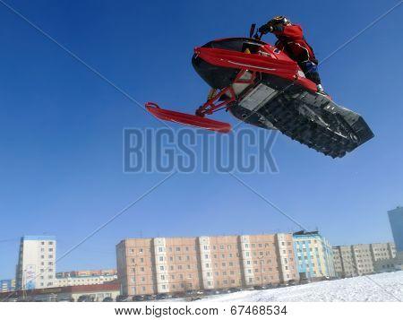 Snow Cross-country Race.
