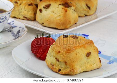 Freshly baked English scone
